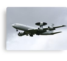 AWACS, military flying hardware Canvas Print