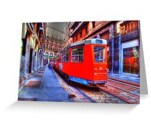 Electric Trolley Greeting Card