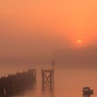 Foggy Sunrise over the Tyne by Harry Purves