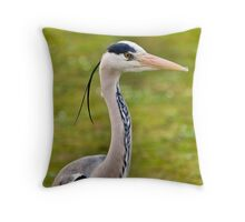 Grey Heron (HDR) Throw Pillow