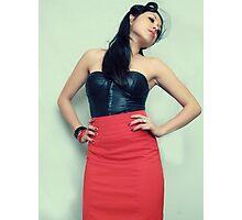 Pinup Girl Fashion Print Photographic Print