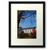 Coloured Houses Revisited Framed Print