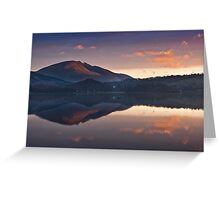 First light on Blencathra summit Greeting Card