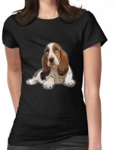 Basset Hound Womens Fitted T-Shirt