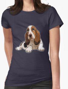 Basset Hound Womens Fitted T-Shirt