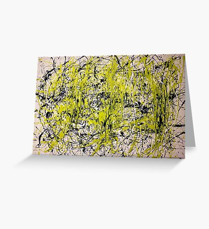 Abstract Jackson Pollock Painting Titled: Dancing Wild Greeting Card