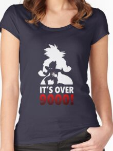 It's Over 9000! Women's Fitted Scoop T-Shirt