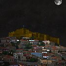 Molyvos By Night Lesvos Greece by Eric Kempson