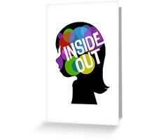 Inside Out of Riley's Head Greeting Card