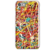 Modern Abstract Jackson Pollock Painting Original Art Titled: Constant Change iPhone Case/Skin