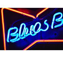 Blues Bar Neon Photographic Print