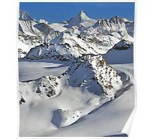 heli skiing Poster