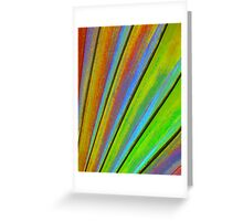 Fantasy Palm Leaf Abstract 3 Greeting Card