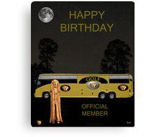 Golf  World Tour Scream Tour Bus Happy Birthday Canvas Print