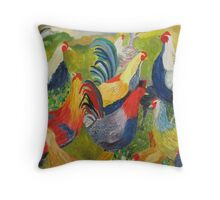 Out of the Bus Throw Pillow