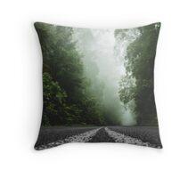 Misty Otway Forest Throw Pillow
