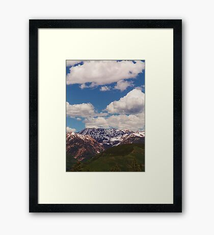 Top of Vail Mountain Framed Print