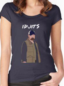 Supernatural - Bobby Singer - Idjits Women's Fitted Scoop T-Shirt