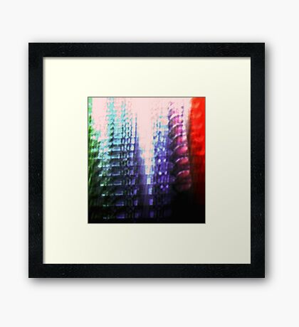 Coloured Skyscrapers Framed Print