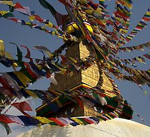 Boudhanath temple by Michal Cerny