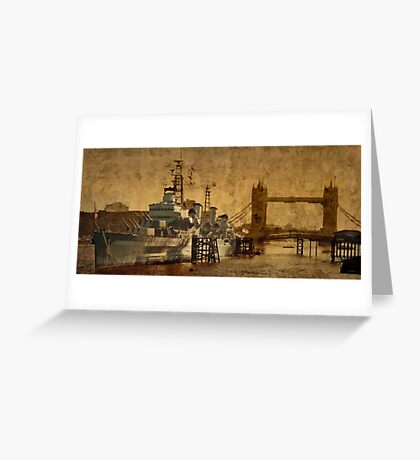 HMS Belfast Greeting Card