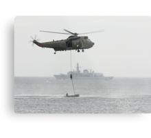 Absail from helicopter Metal Print