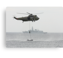 Absail from helicopter Canvas Print