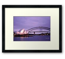 Sunset with operahouse 0.2 Framed Print
