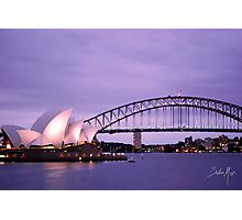 Sunset with operahouse 0.2 Photographic Print