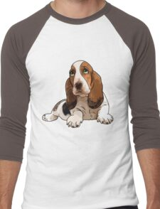 Basset Hound Men's Baseball ¾ T-Shirt