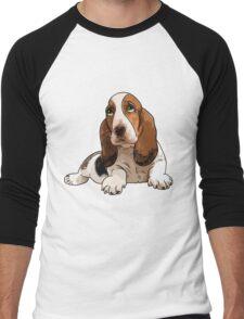 Basset Hound Men's Baseball ¾ T-Shirt