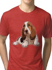 Basset Hound Tri-blend T-Shirt