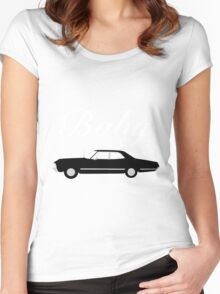 Supernatural Impala - Dean Winchester's Baby Women's Fitted Scoop T-Shirt
