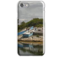 Boats Ashore Peggys Cove Nova Scotia iPhone Case/Skin