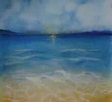 Beach Sunrise by sandrarosiak