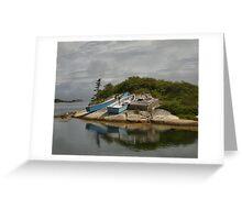 Boats Ashore Peggys Cove Nova Scotia Greeting Card