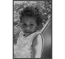 curly black boy Photographic Print