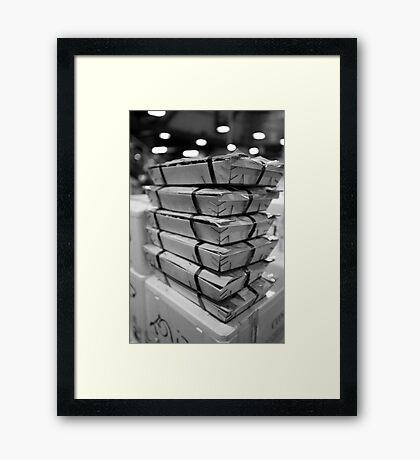 Razorclams At The Mercabarna Framed Print