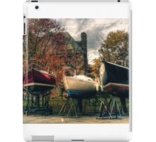 Wintering Boats in Baddeck Cape Breton Island Nova Scotia Canada iPad Case/Skin