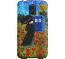 Umbrella girl with space and time traveller box art painting Samsung Galaxy Case/Skin