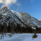 Mount Lorette in Winter by Michael Collier