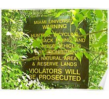 Violators Will Be Prosecuted Poster