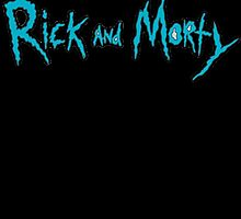 Rick and Morty Logo with Black outlining by Bluepotatogirl