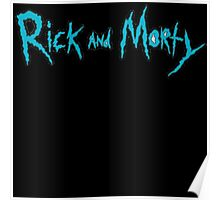 Rick and Morty Logo with Black outlining Poster