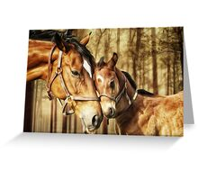 Mare and Foal for Horse Lovers Greeting Card