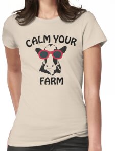 Calm your Farm Womens Fitted T-Shirt