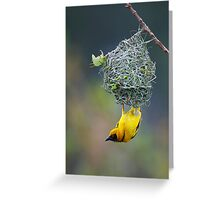 Village Weaver Greeting Card