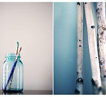 Mason Jars and Birch Trees by girdo