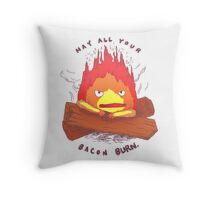 Curse of Calcifer Throw Pillow