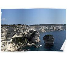 Limestone rocks of Bonifacio Corsica Island France Poster